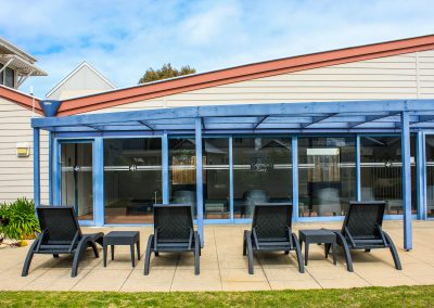 Captains Cove Resort – Paynesville VIC - Tequila Side Tables, Ibiza Armchair in Anthracite & Fiji Sunloungers in Anthracite - Image 18