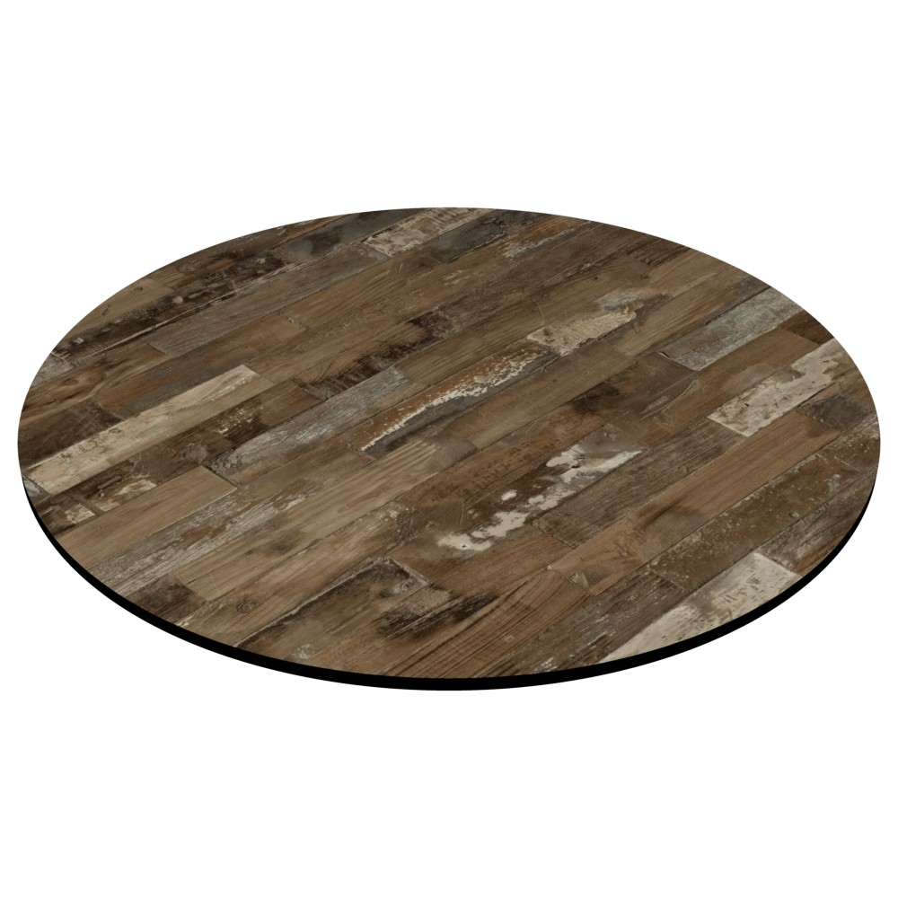 Compact Laminate Rustic Block Wood Table Tops