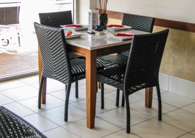 Thai Rice Bundaberg QLD - Palm Chair, Duratop Table Top, Astoria Black Table Base - Image 11