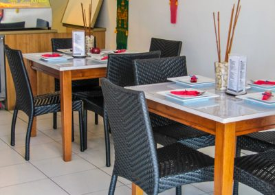 Thai Rice Bundaberg QLD - Palm Chair, Duratop Table Top, Astoria Black Table Base - Image 7