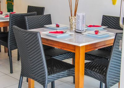 Thai Rice Bundaberg QLD - Palm Chair, Duratop Table Top, Astoria Black Table Base - Image 6