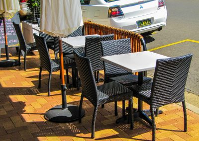 Thai Rice Bundaberg QLD - Palm Chair, Duratop Table Top, Astoria Black Table Base - Image 5