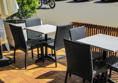 Thai Rice Bundaberg QLD - Palm Chair, Duratop Table Top, Astoria Black Table Base - Image 3