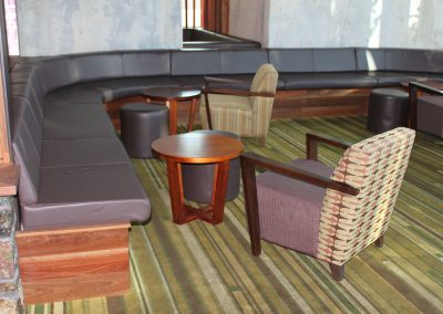 Eatons Hill Hotel Armchair  & Ottomans - Image 8