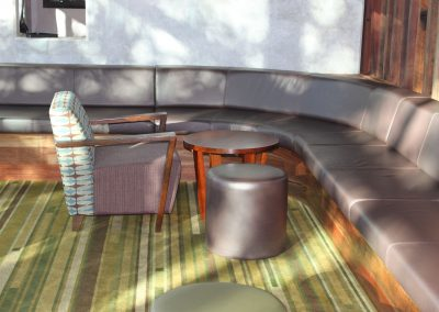 Eatons Hill Hotel Armchair  & Ottomans - Image 7