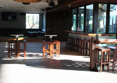 Eatons Hill Hotel Bar Table & Timber Stools - Image 8