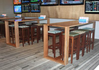 Eatons Hill Hotel Bar Table & Timber Stools