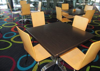 Woodgate Club - Block Stool, Duratop Table Top, Avila Table Base, Stirling Mk2 Table Base, Function Chair-Fabric, Avoca Chair & Palm Chair - Image 16