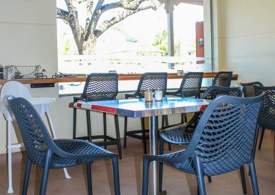 Borella Seafood Black Air Chair & Tables image 1