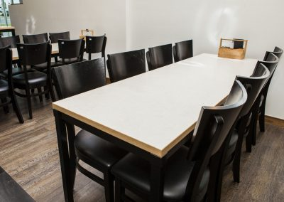 Sizzler Restraunt - Carlton Table Frame, Astoria Black Table Base & Melamine Table Top - Image 22