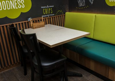 Sizzler Restraunt - Carlton Table Frame, Astoria Black Table Base & Melamine Table Top - Image 17