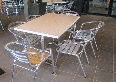 Signatures Coffee Lounge - Duratop Table Tops, Roma Table Base and Roma Twin Table Base