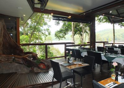 Secrets On The Lake Cafe Montville - Palm Chair & Roma Table Base