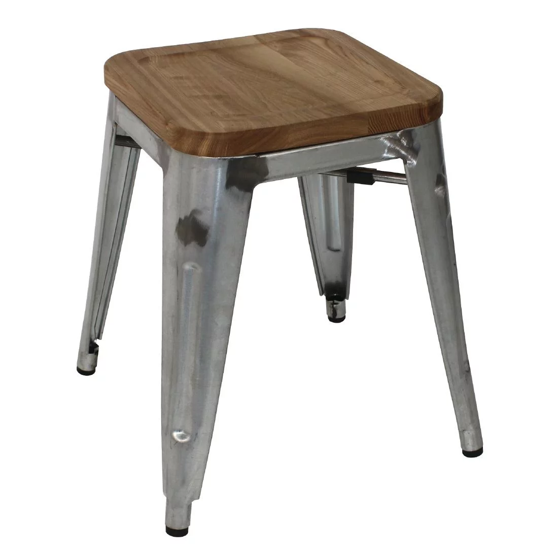 Harbour Low Stool with Timber Seat