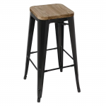 Black Harbour Barstool with Timber Seat