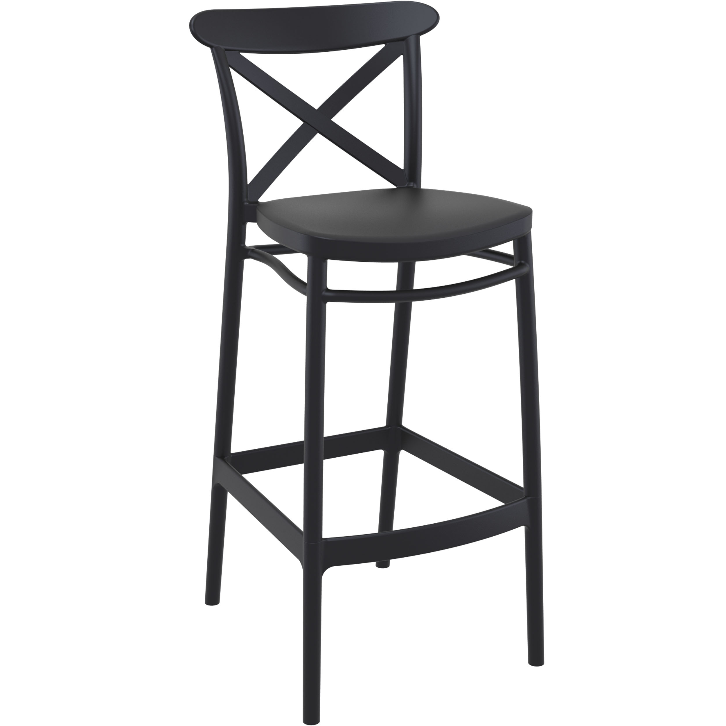 Cross Bar Stool 75