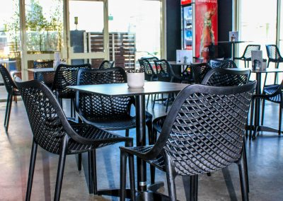 Parkside Cafe - Armidale NSW - Black Air Chairs