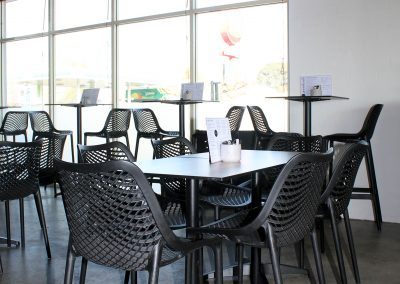 Parkside Cafe - Armidale NSW - Black Air Barstools & Air Chairs