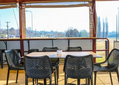 Parkside Cafe - Armidale NSW - Harbour Stool, Air Chairs & Table Tops - Outside