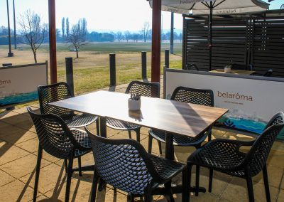 Parkside Cafe - Armidale NSW - Air Chairs, Table Top & Twin Table Base