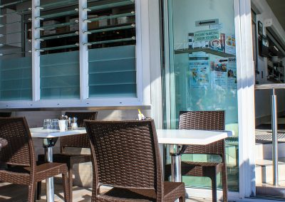 Zimzala Restaurant - Cronulla NSW - Outside -Chocolate Florida Chair -