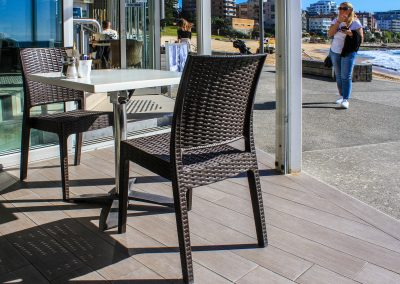 Zimzala Restaurant - Cronulla NSW - Outside - Florida Chairs - Chocolate