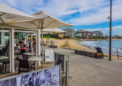 Zimzala Restaurant in Cronulla NSW - Outside - Chocolate Florida Chairs