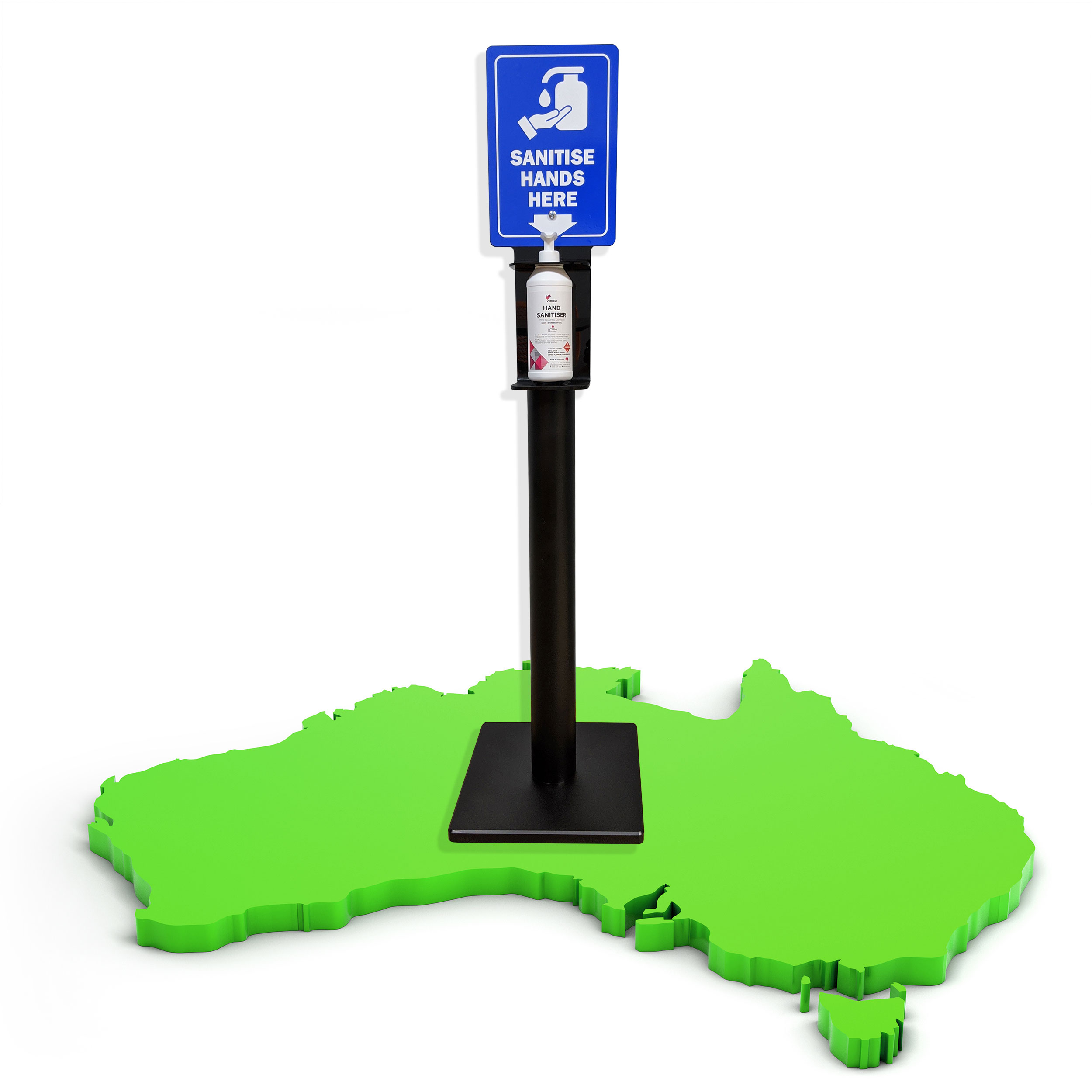 Australian Made Hand Sanitiser Dispenser Stand