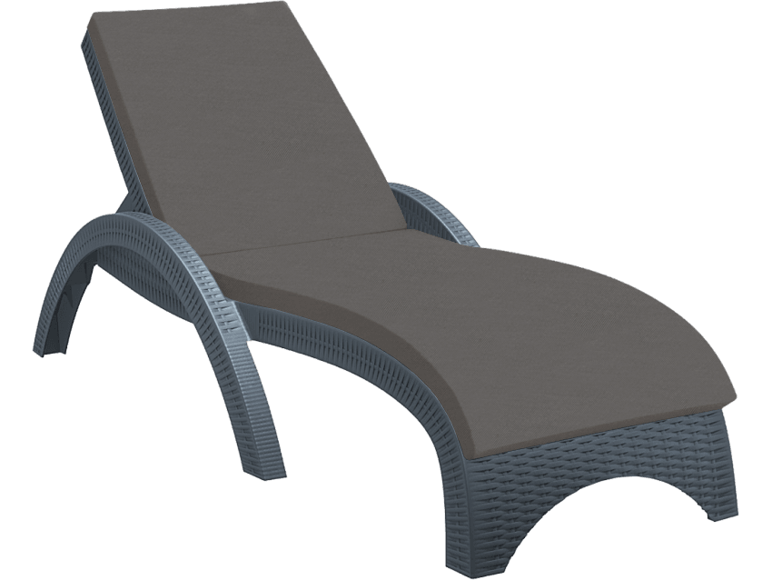 Cushion Anthracite - Fiji Sunlounger (High Quality Fabric)