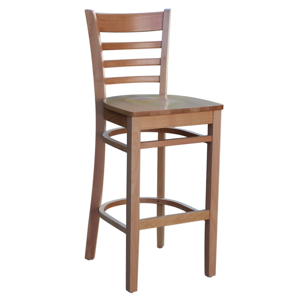 Florence Barstool Natural - Ply Seat - Made in Europe
