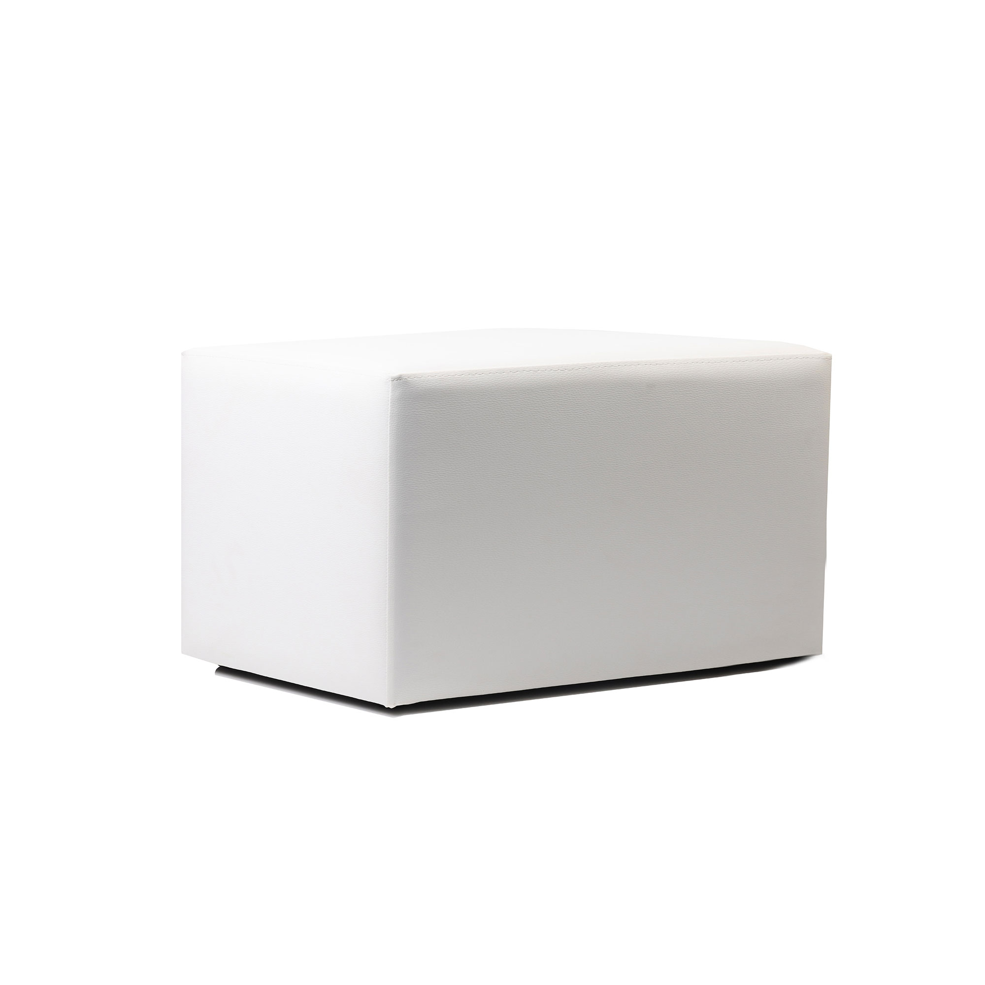 Ottoman Rectangle - White - Made In Europe