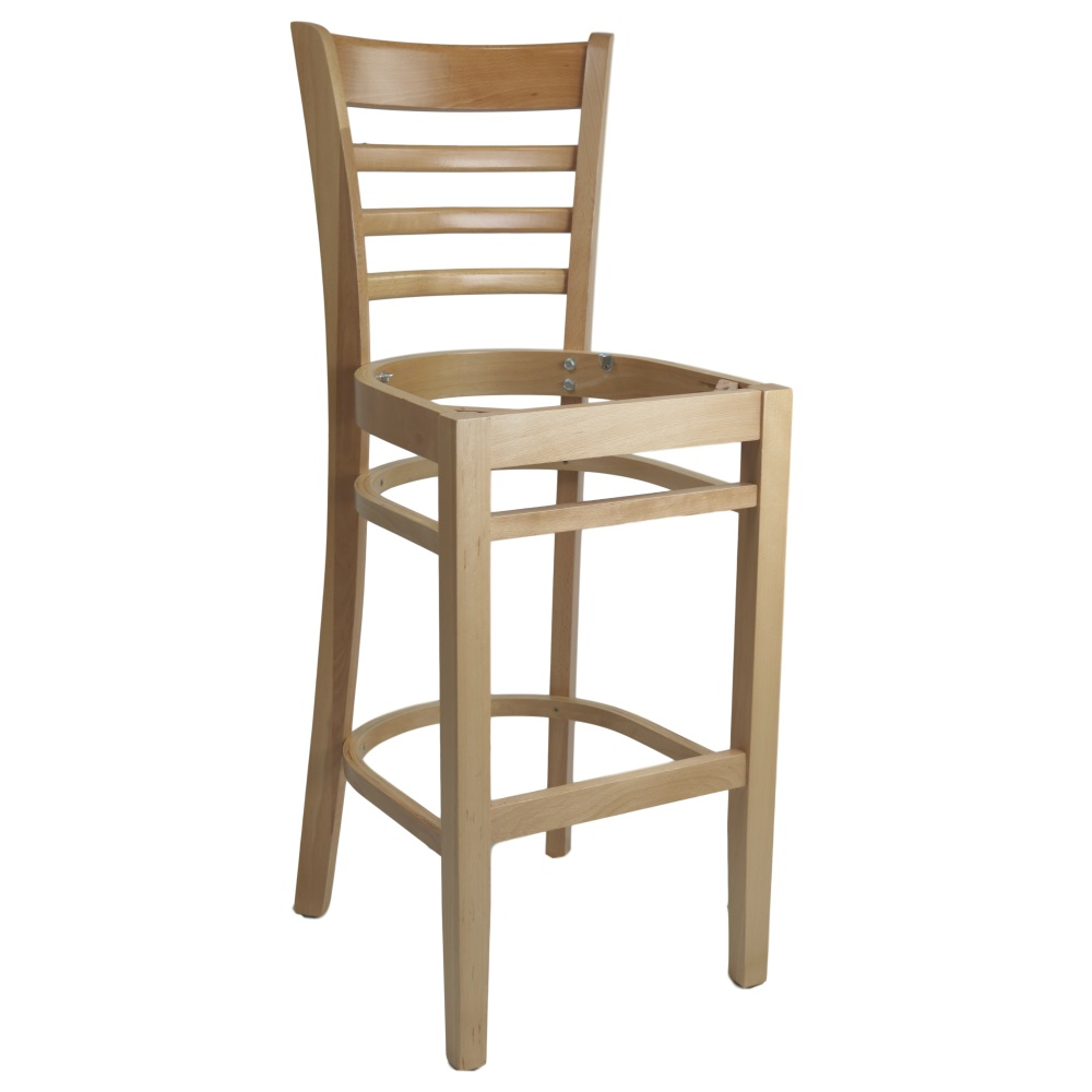 PART Florence Barstool Frame - Natural - Made in Europe