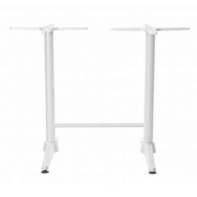 Astoria White Twin Bar Table Base - For 1200x800 tops - Made in Europe