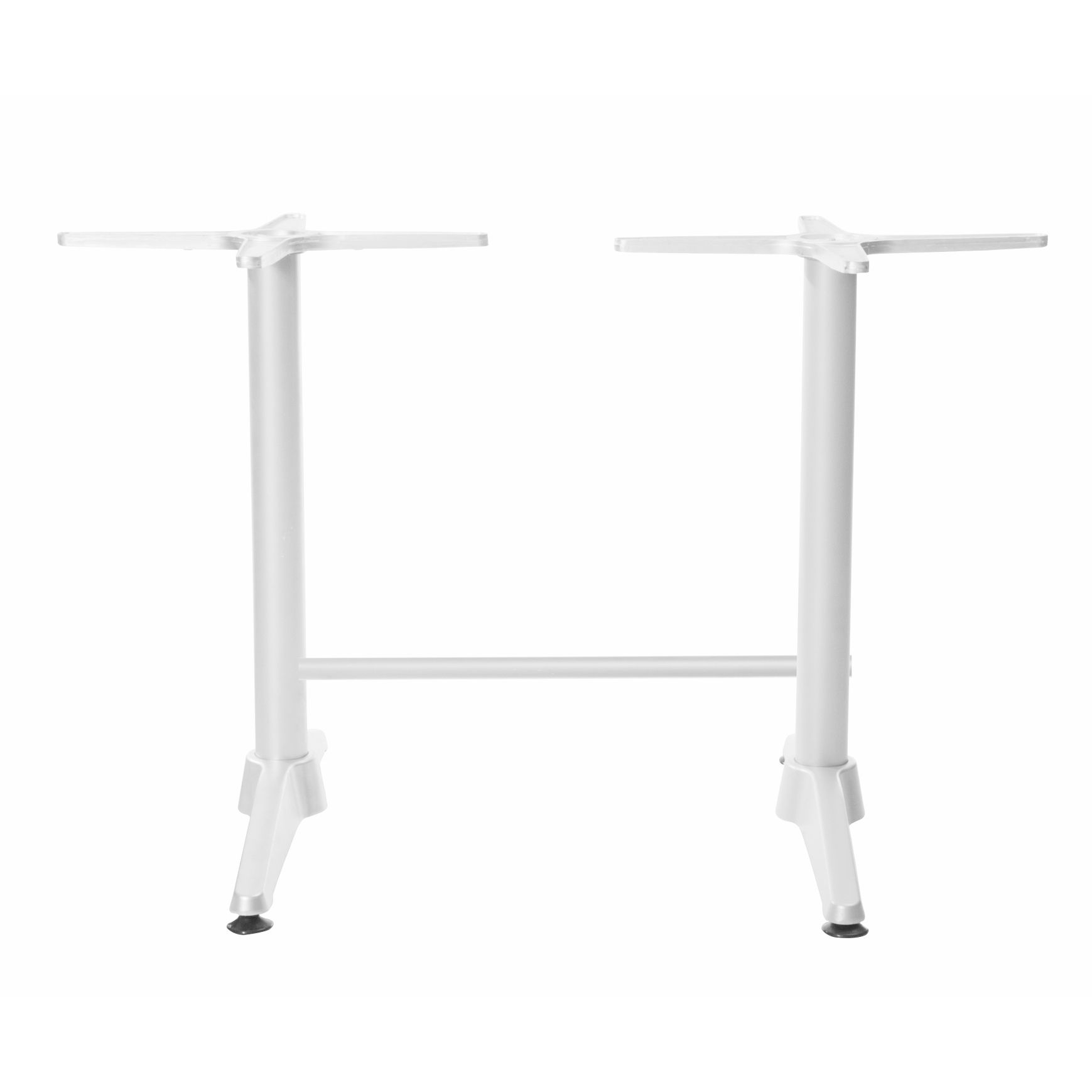 Astoria White Twin Table Base - For 1200x800 tops - Made in Europe
