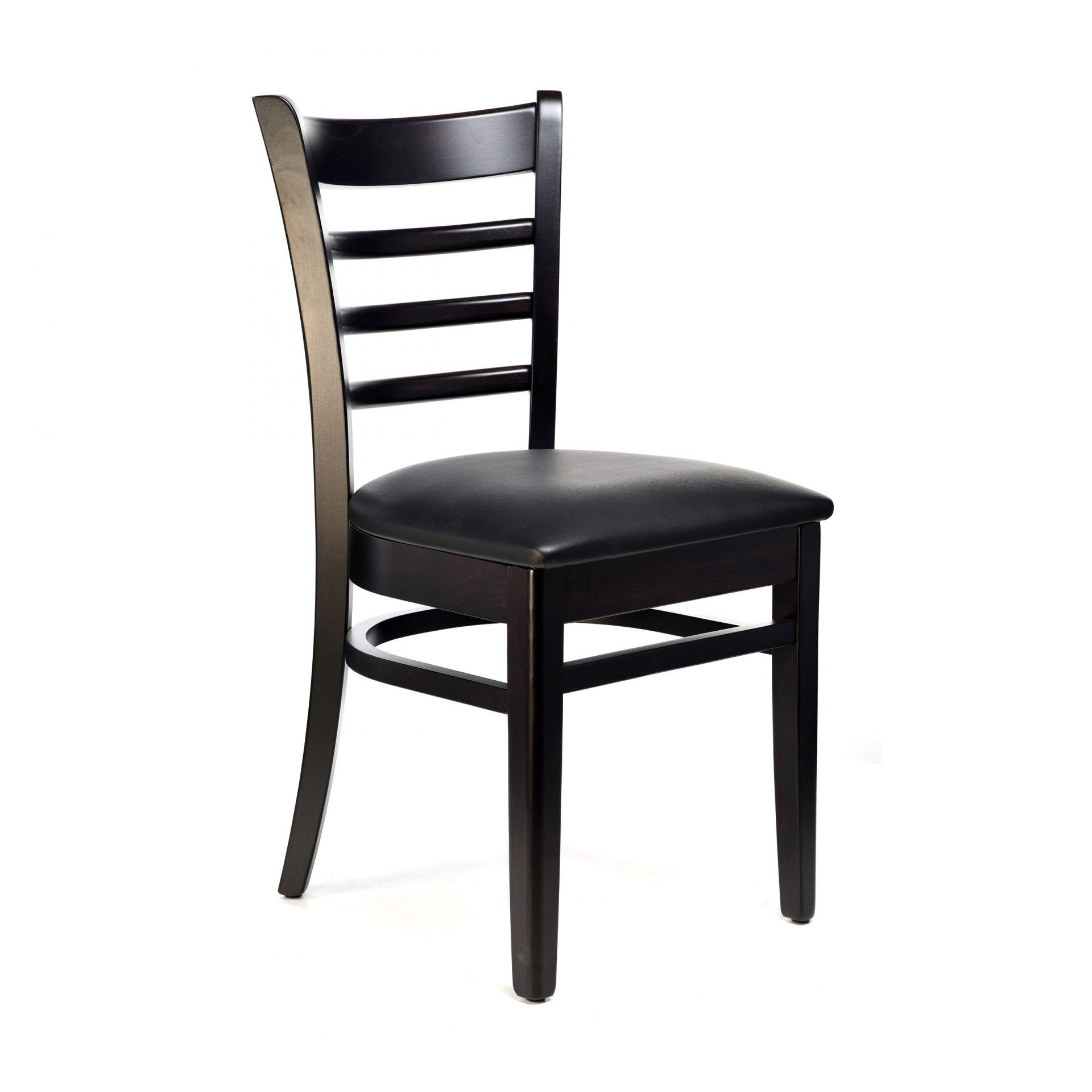 Florence Chair - Chocolate - Vinyl Seat (Black) - Made in Europe
