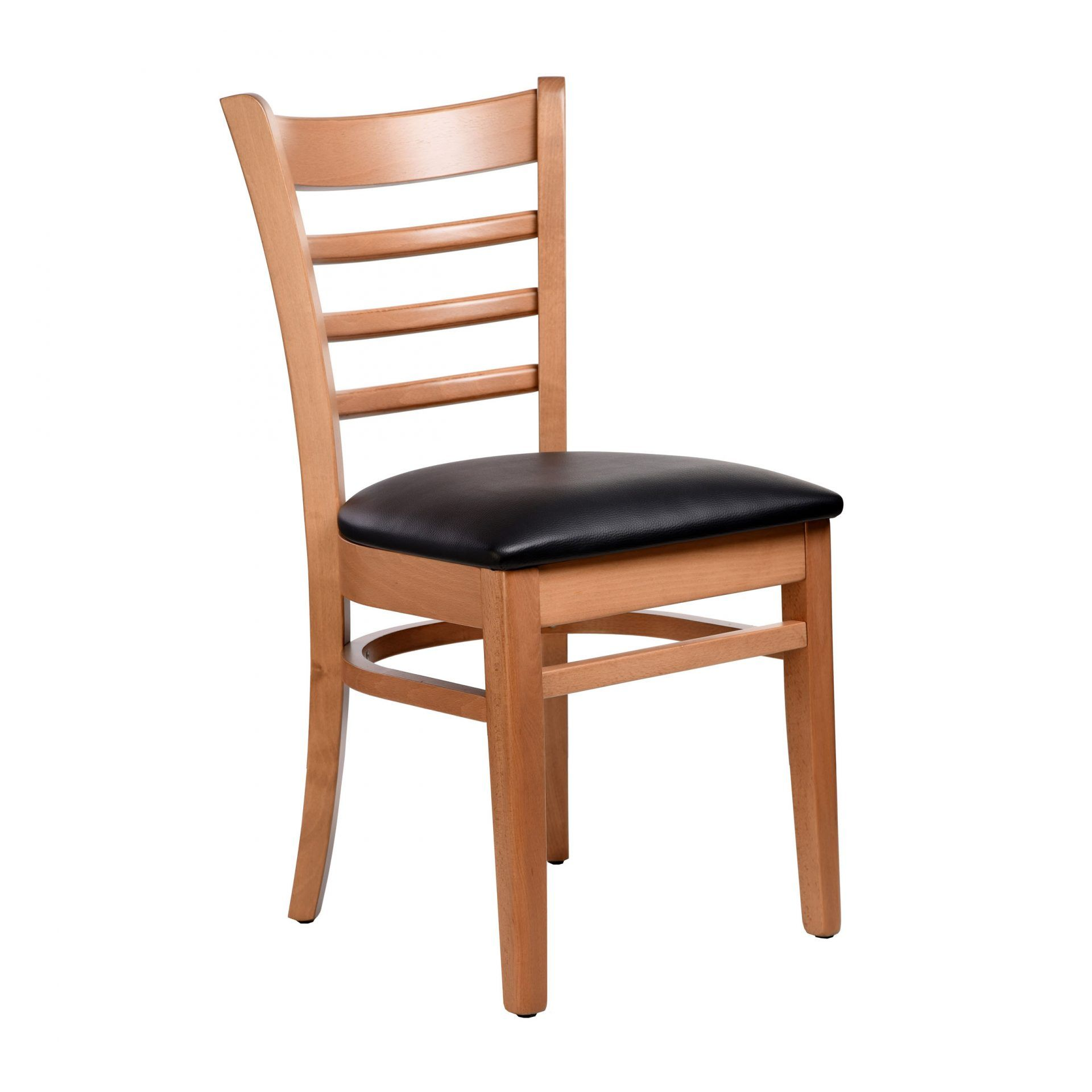 Florence Chair - Natural - Vinyl Seat (Choc) - Made in Europe