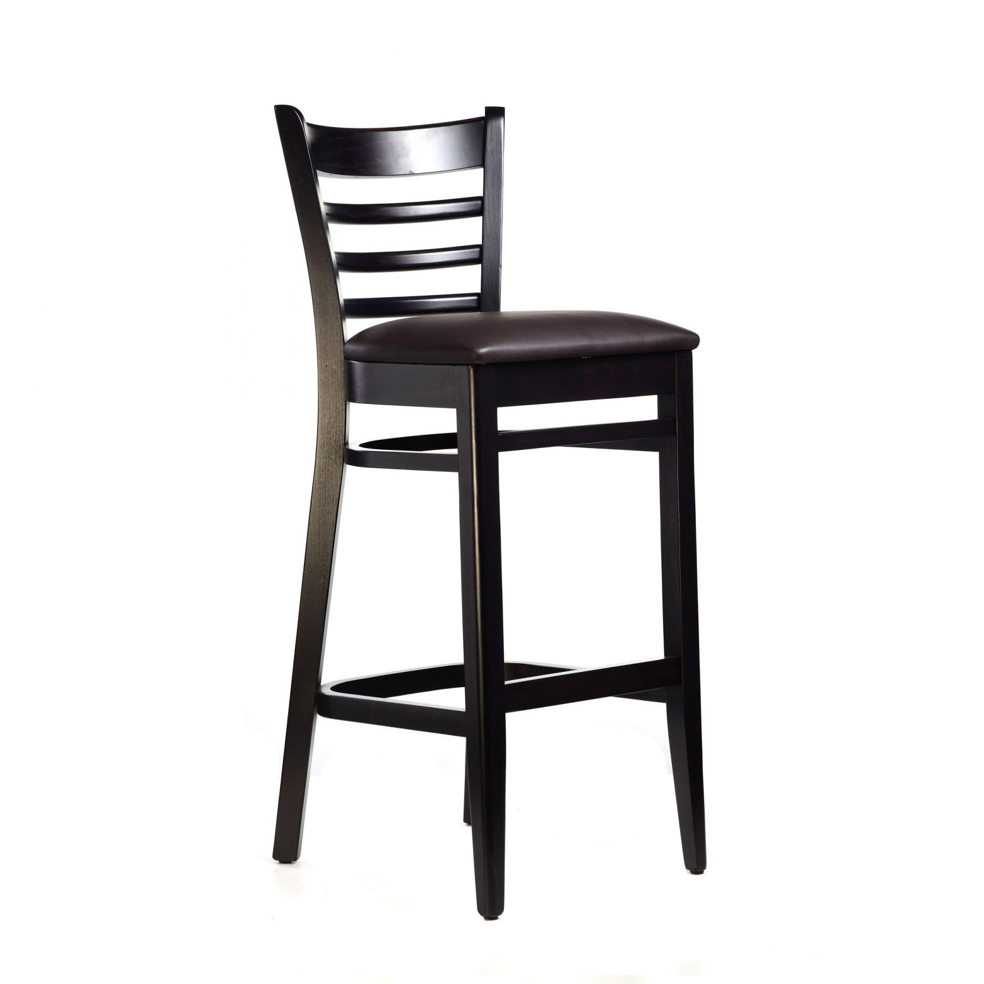 Florence Barstool Chocolate - Vinyl Seat (Choc) - Made in Europe
