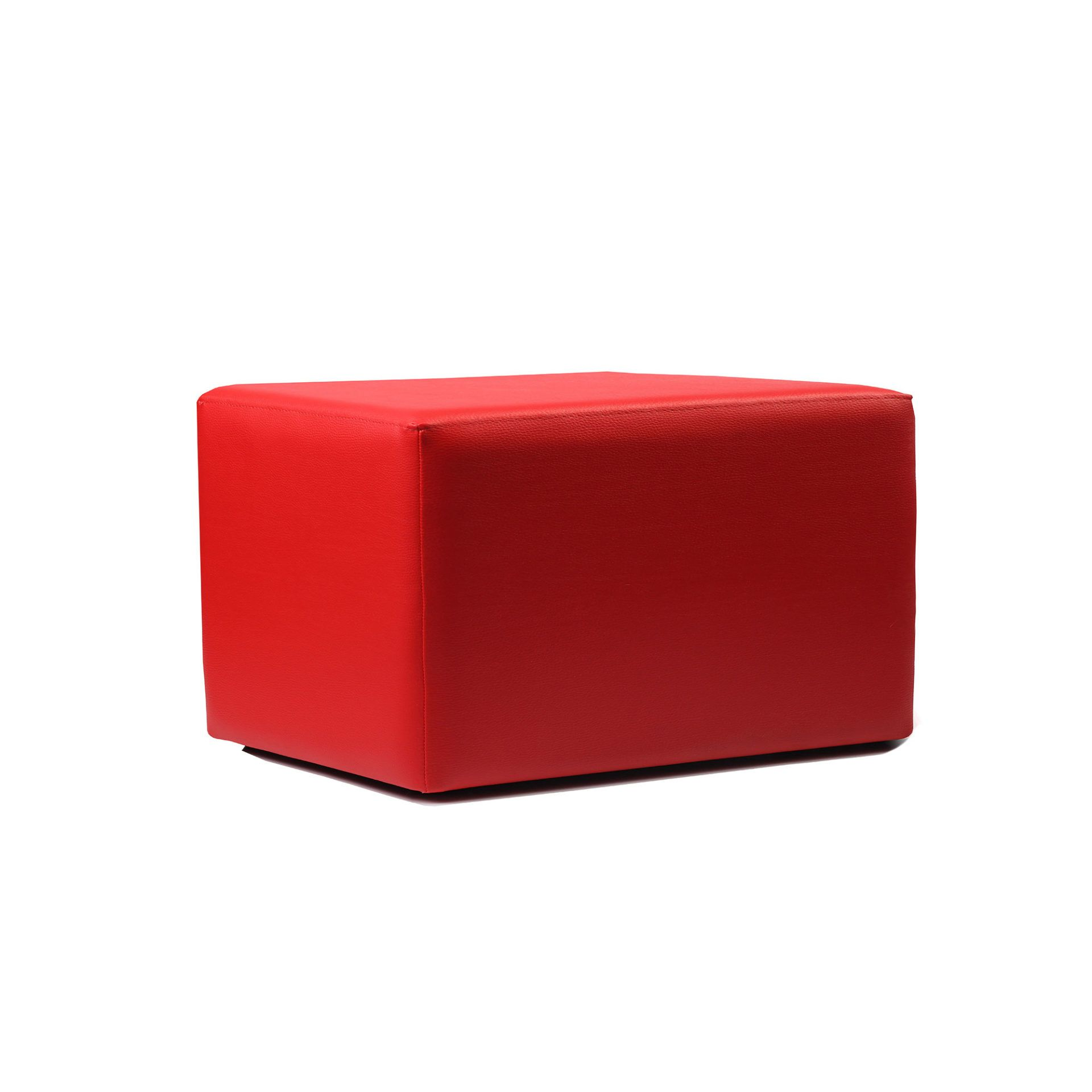 Ottoman Rectangle - Red - Made In Europe