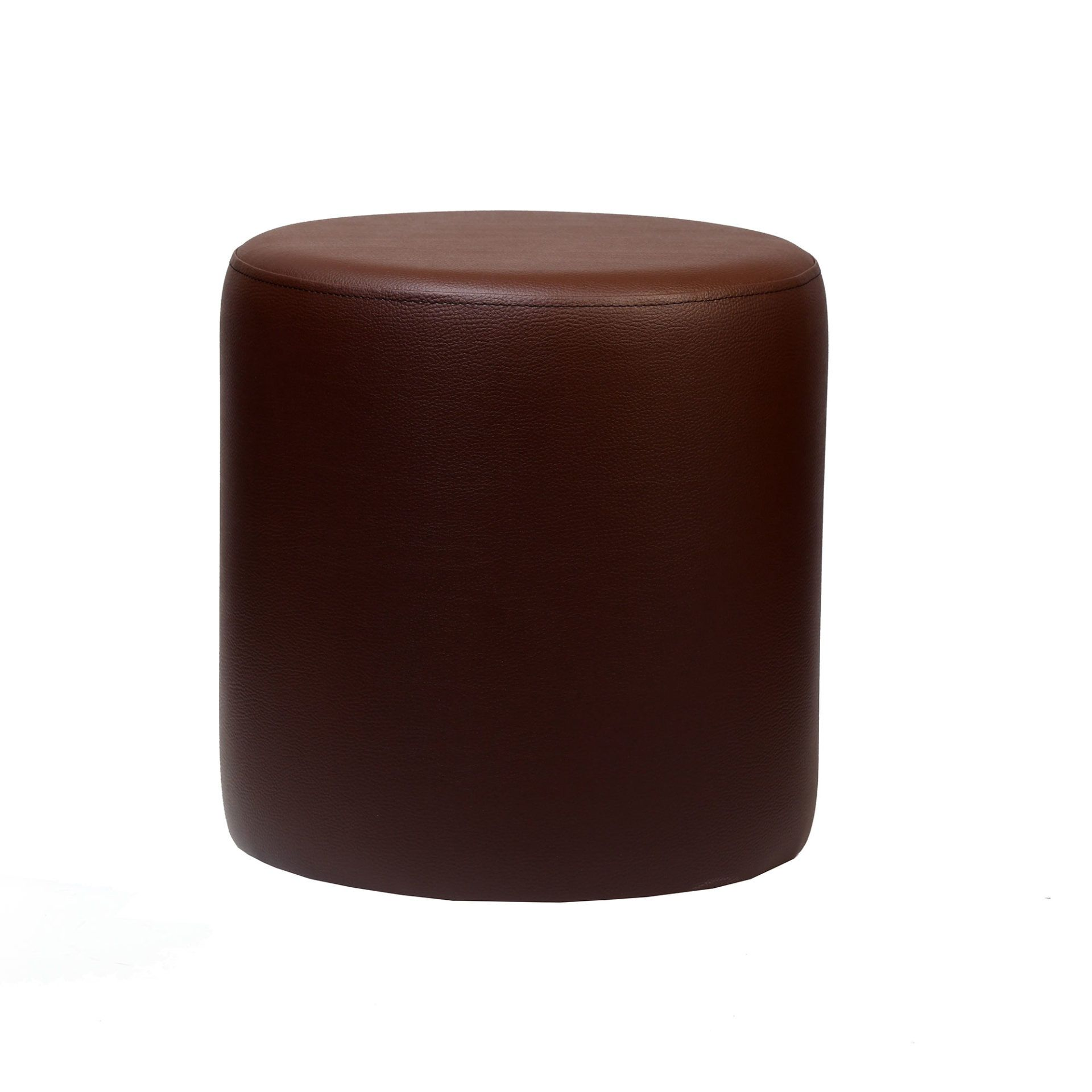 Ottoman Round - Chocolate - Made In Europe