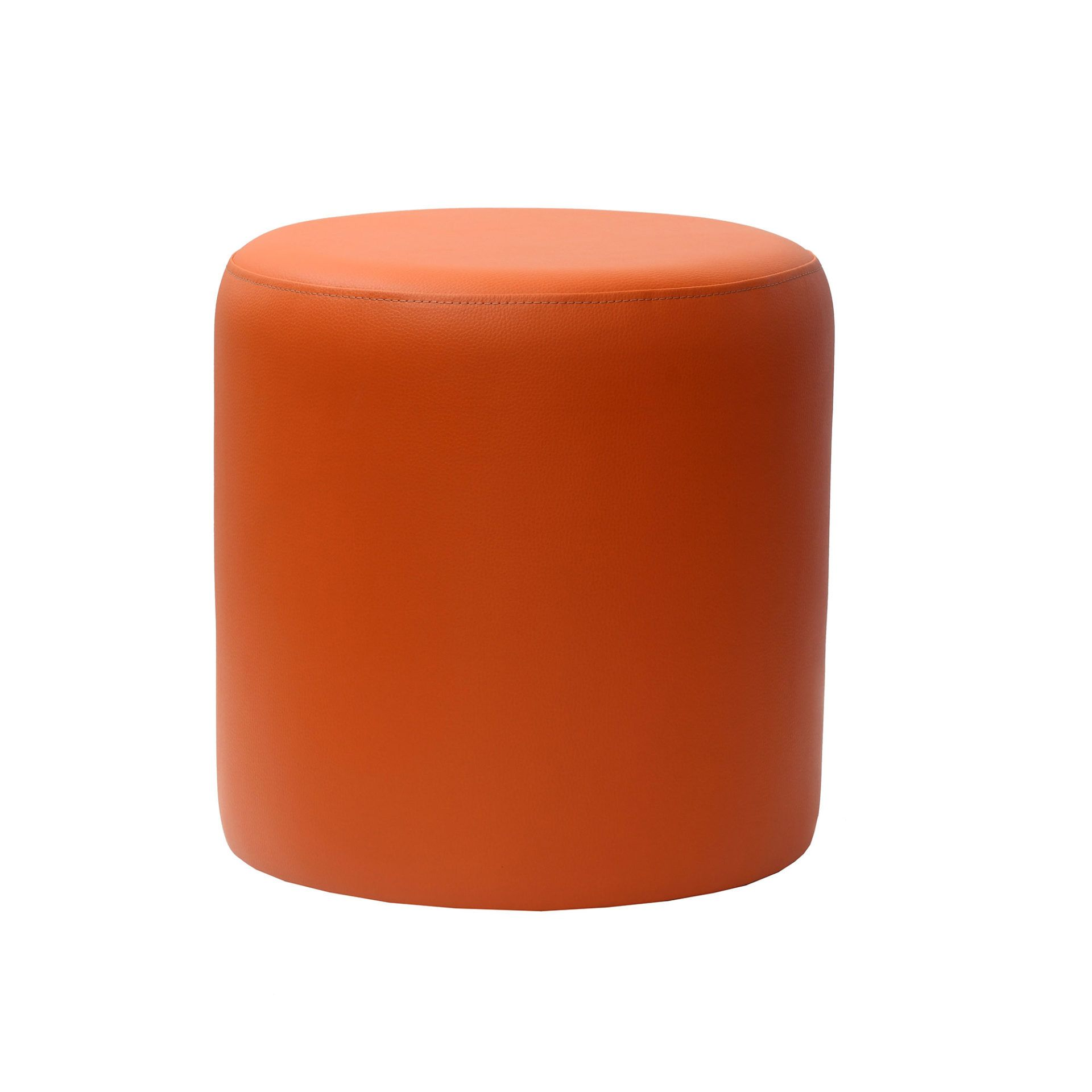 Ottoman Round- Orange - Made In Europe