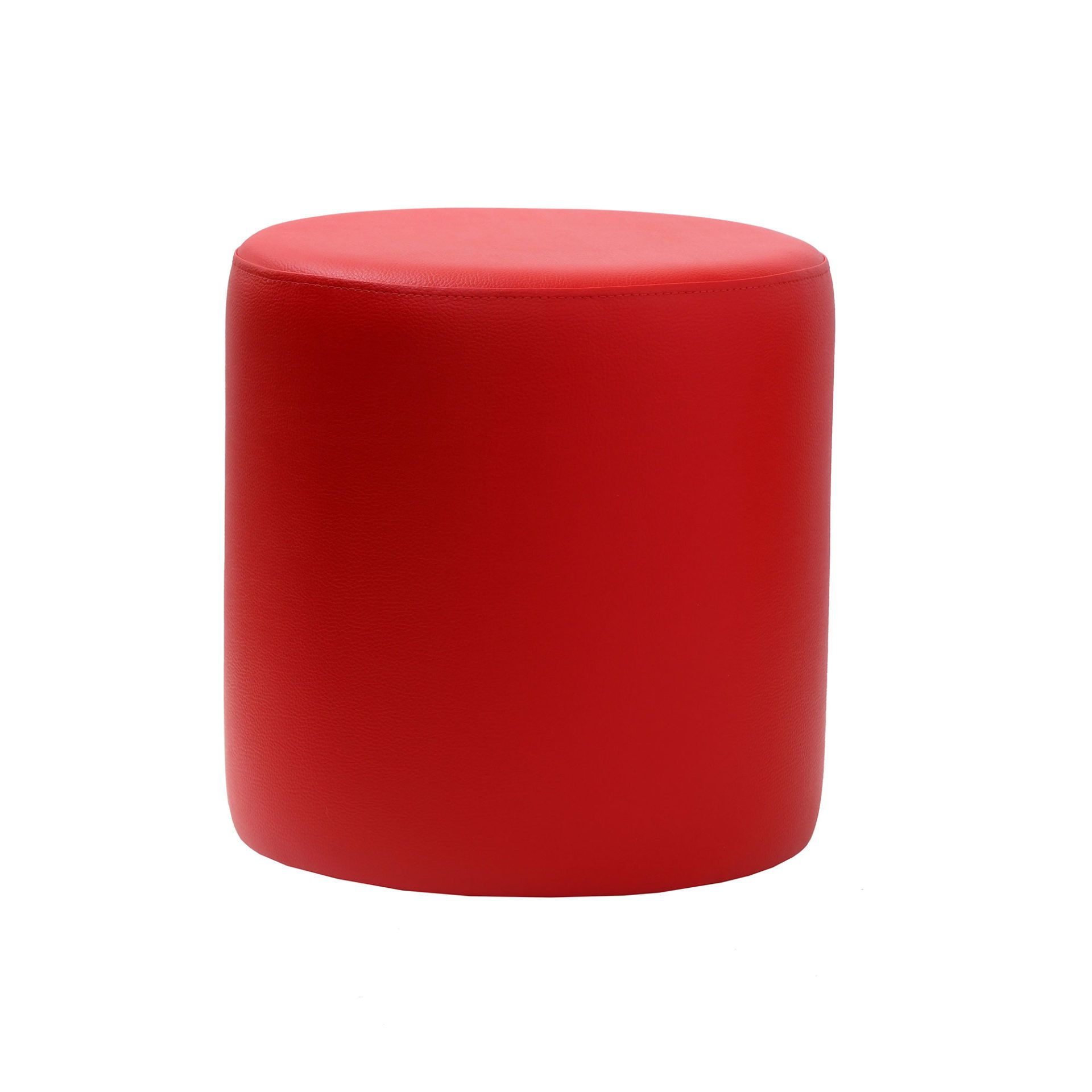 Ottoman Round - Red - Made In Europe