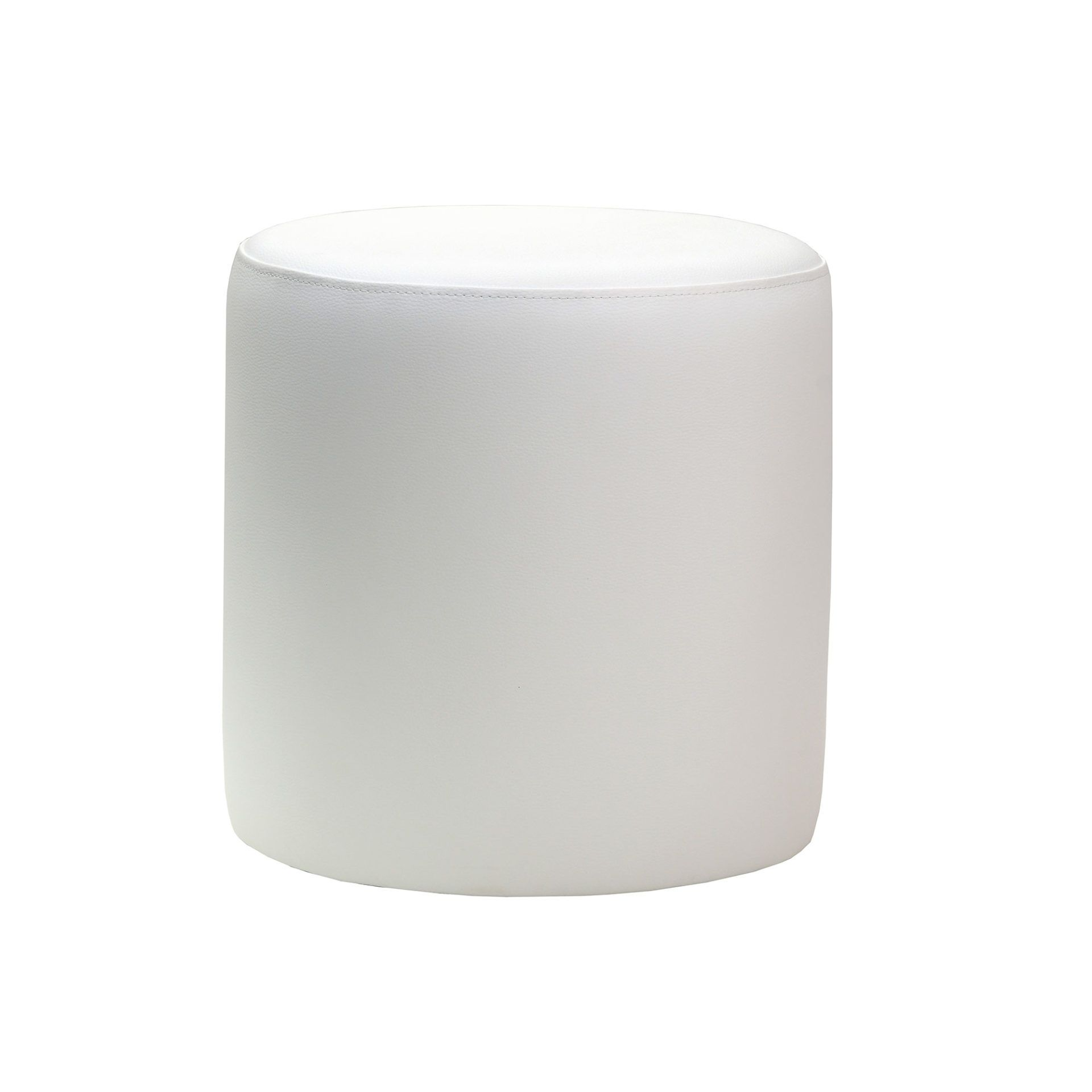 Ottoman Round- White - Made In Europe