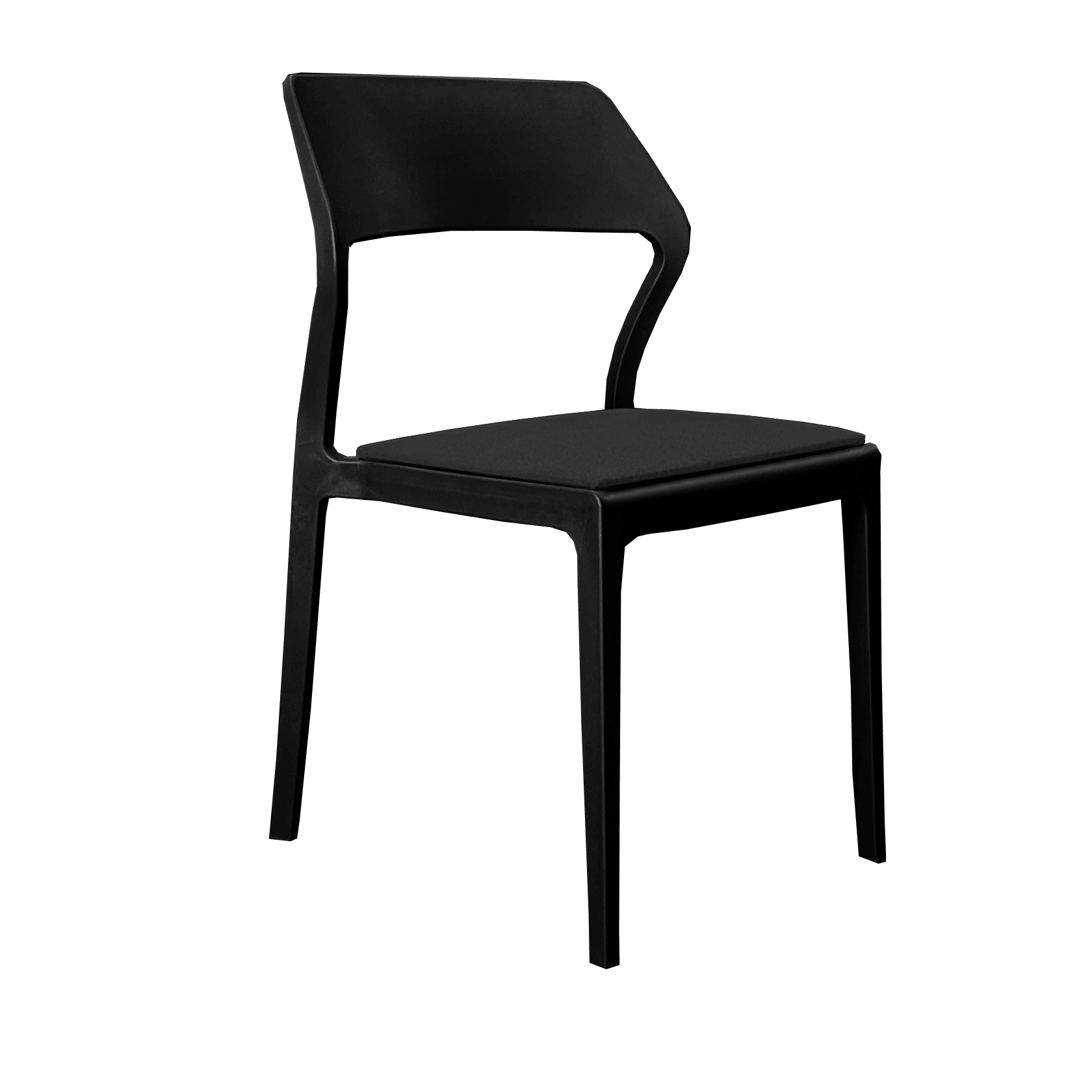 Seat Cushion - Black Fabric (Snow/Plus Chair)