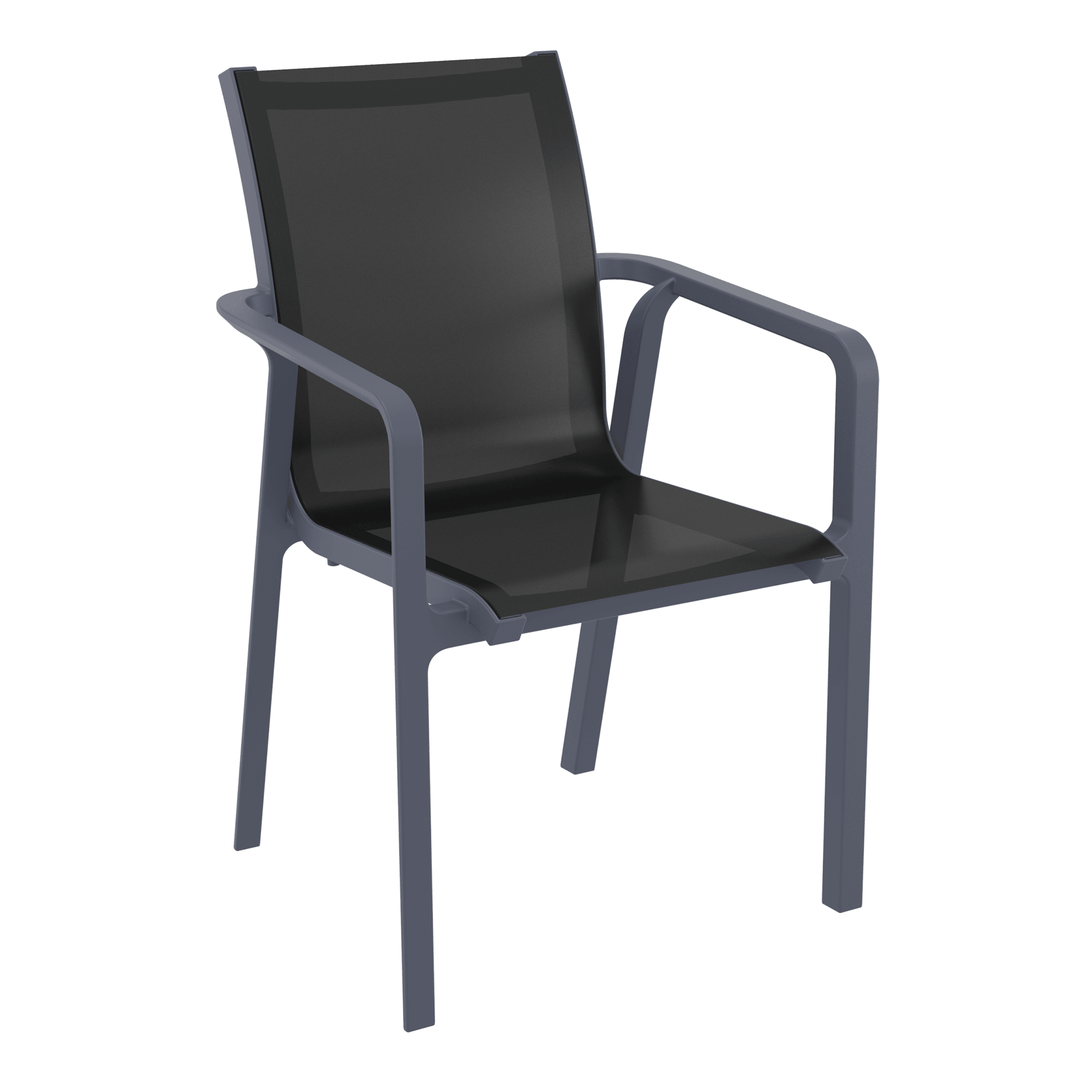 Pacific Arm Chair - Anthracite/Black