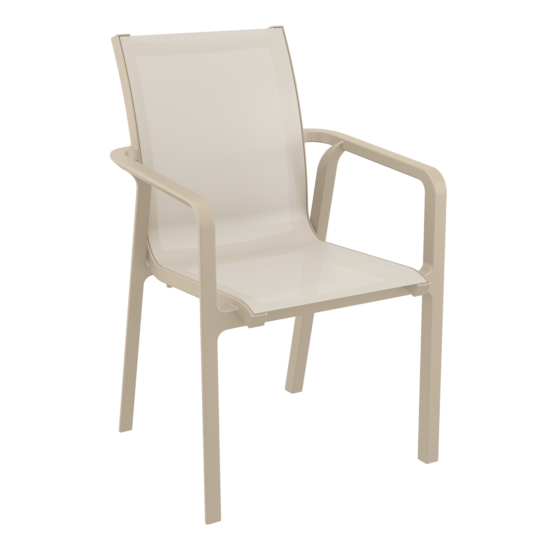 Pacific Arm Chair - Taupe/Taupe
