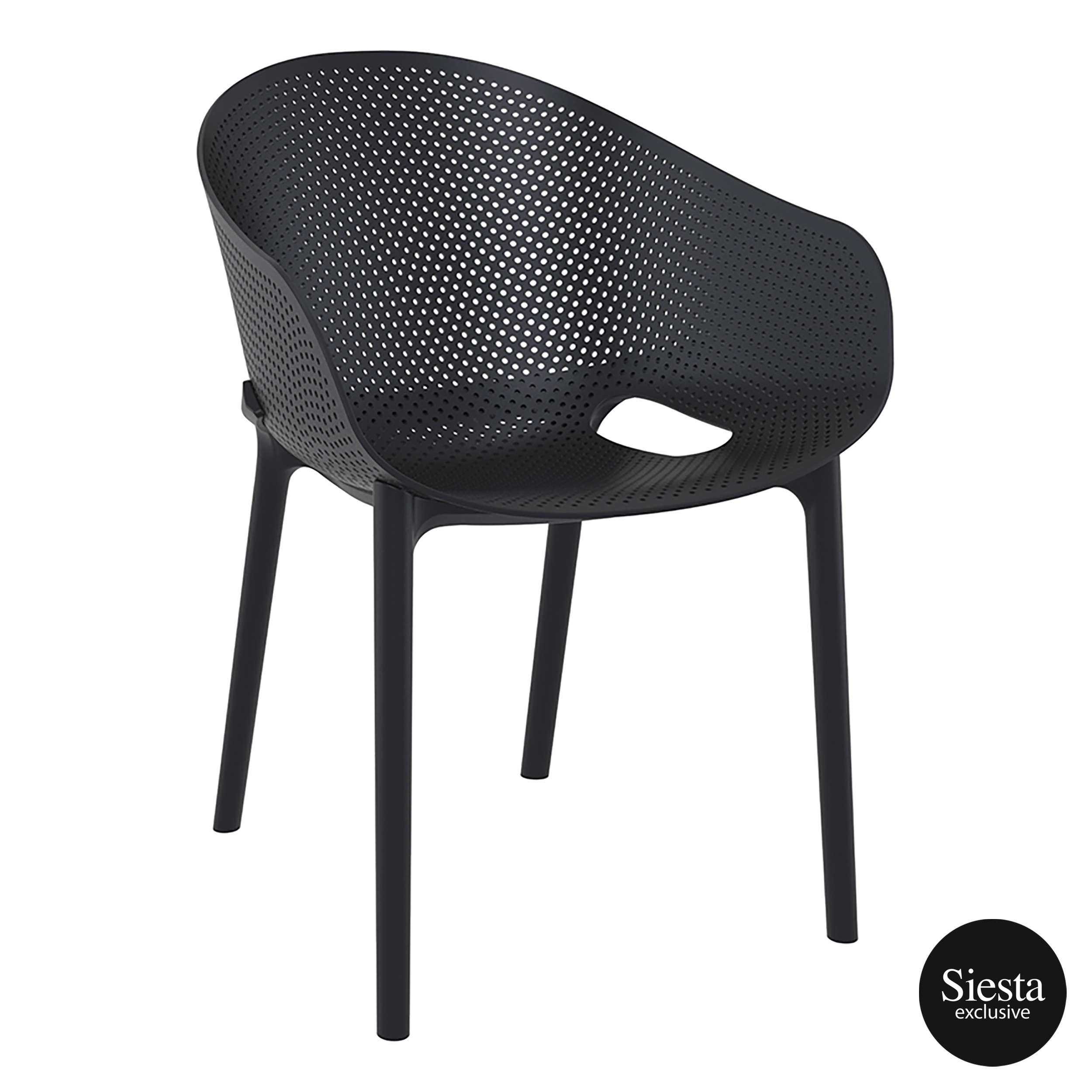Sky Stacking Chair - Black