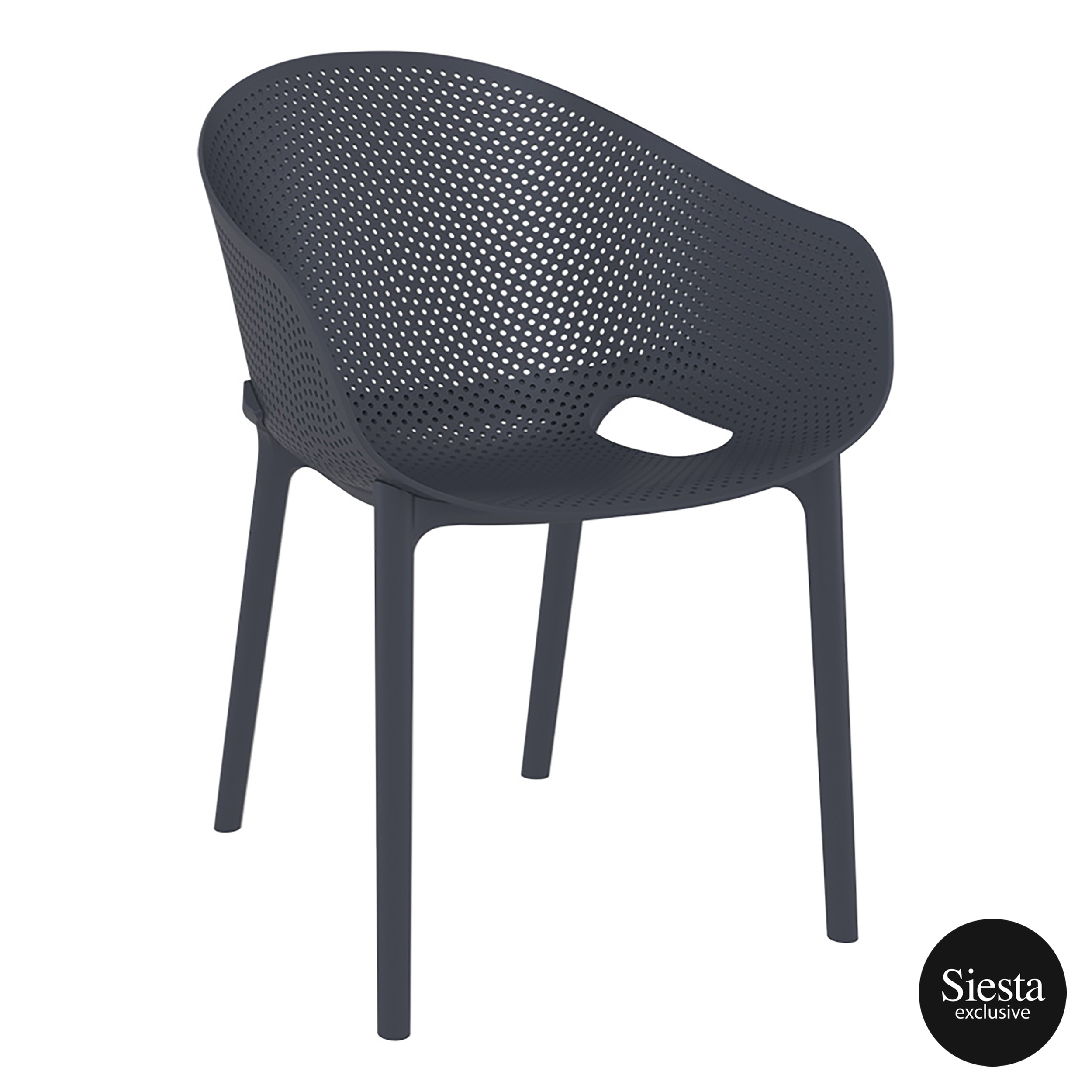 Sky Stacking Chair - Anthracite
