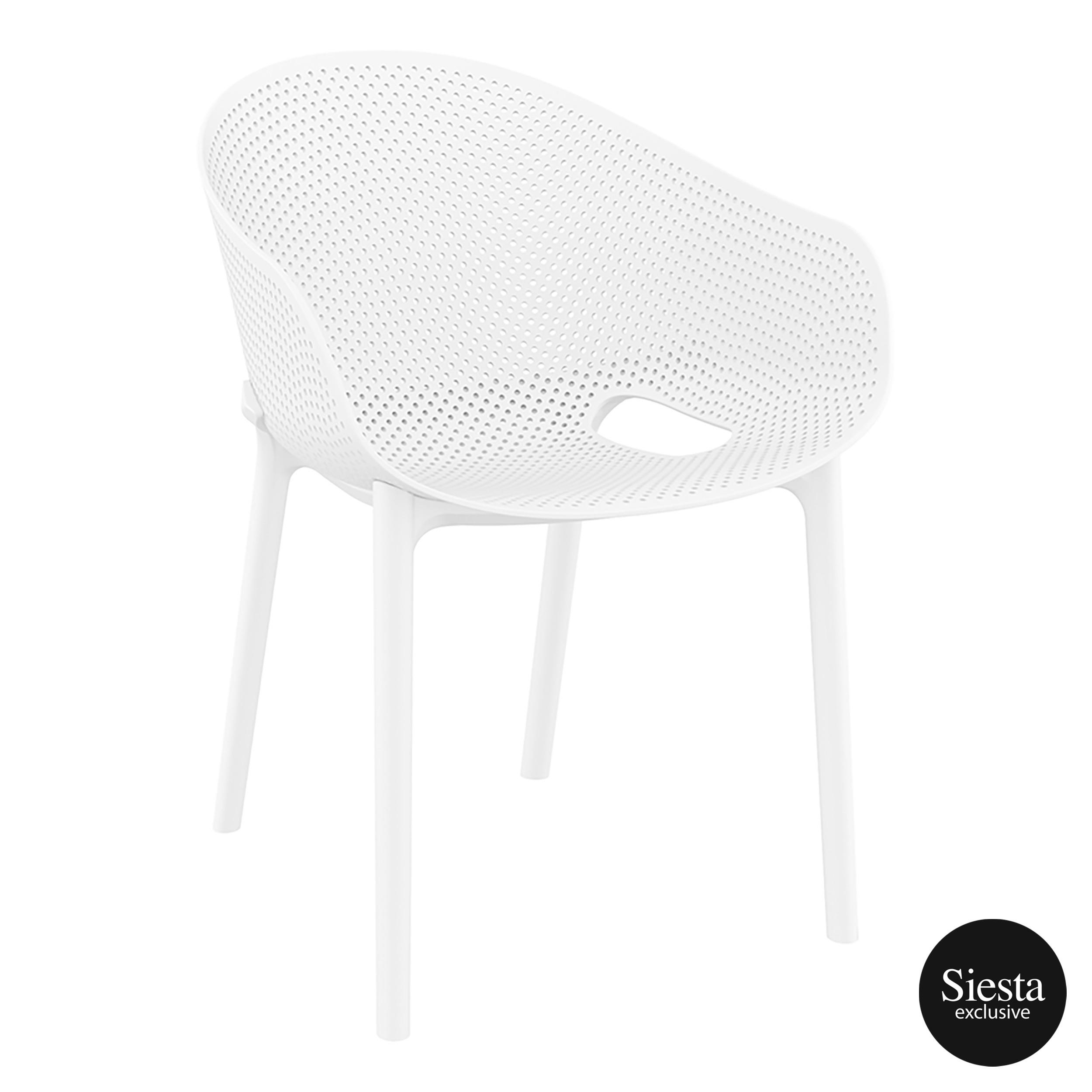 Sky Stacking Chair - White